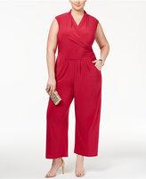 Love Squared Trendy Plus Size Faux-Wrap Jumpsuit