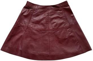 Max & Co. Burgundy Leather Skirt for Women