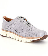 Cole Haan Men's Zerogrand Laser Perforated Suede Sneakers