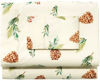 L.L. Bean Evergreen Percale Sheet Collection