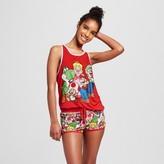 Nintendo Women's Tank & Shorts Pajamas Set Characters