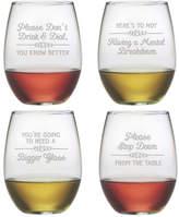 Susquehanna Glass Wine Wisdom Stemless Wine Glass