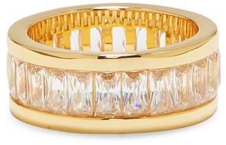 Vince Camuto Channel Set Baguette-Cut CZ Wedding Band Ring - Size 7