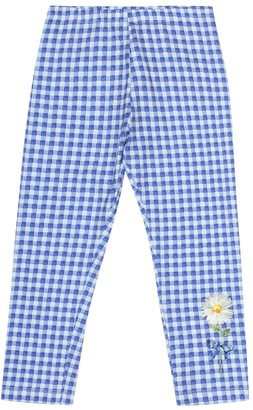 MonnaLisa Checked stretch cotton pants