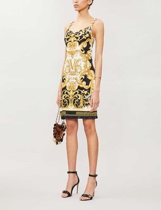 Versace Barocco-print stretch-woven mini dress