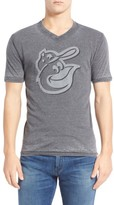 Red Jacket Men's 'Baltimore Orioles - Calumet' Graphic V-Neck T-Shirt