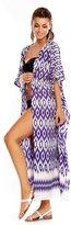 Looking Glam Ladies Full Length Kimono Cover Up Maxi Kaftan - Free