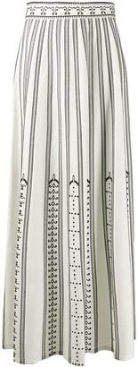 Le Sirenuse Striped Maxi Skirt