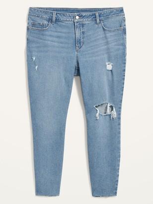 Old Navy High-Waisted Secret-Slim Pockets Rockstar Super Skinny Ripped Ankle Jeans