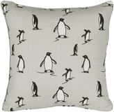 Rose Tree Penguins 18-Inch Square Throw Pillow in Grey