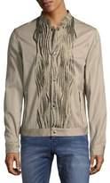 Roberto Cavalli Woven Snap Front Jacket