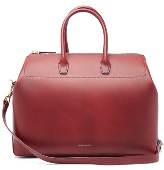 Mansur Gavriel Travel Medium Leather Bag - Womens - Burgundy