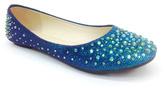 Bamboo Blue Glitter Clore Flat