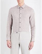 Armani Collezioni Casual-fit Slub Linen Shirt