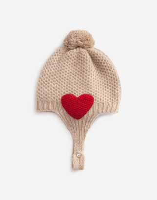 Dolce & Gabbana Knit Hat With Patch