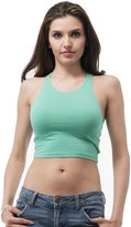 Hollywood Star Fashion Plain sleeveless tank top crop top