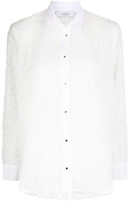 Roseanna Dolton feather-jacquard shirt