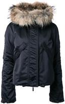 Kru fur hood ski jacket