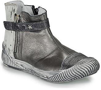 Ikks AMANDA girls's Mid Boots in Grey
