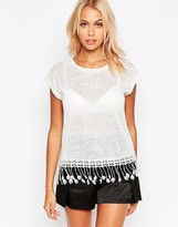 B.young T-Shirt With Tassel Trim