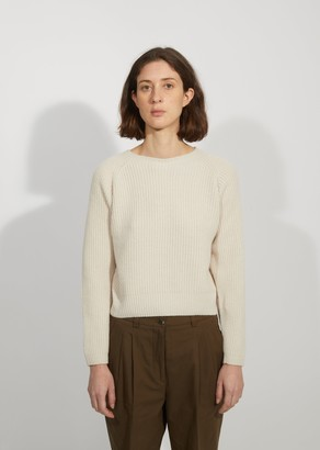 Margaret Howell Wool & Cashmere Ribbed Crewneck Sweater