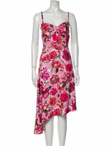 Thumbnail for your product : CARMEN MARCH Floral Print Long Dress Red