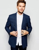 Selected Double Breasted Blazer in Skinny Fit