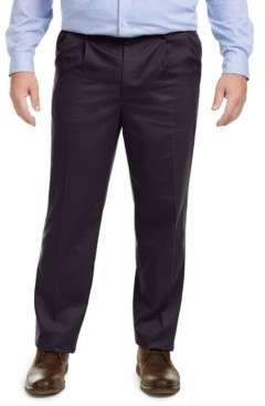Dockers Big & Tall Signature Lux Cotton Classic Fit Pleated Creased Stretch Khaki Pants