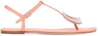 Roger Vivier 10mm Biki Viv Thong Leather Sandals
