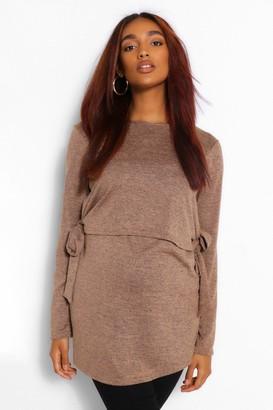 boohoo Maternity Tie Side Nursing Knitted sweater