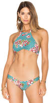 Beach Riot France Bikini Top in Teal. - size L (also in M,S,XS)