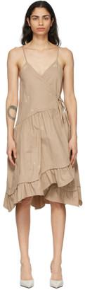 Kika Vargas Beige Elora Dress