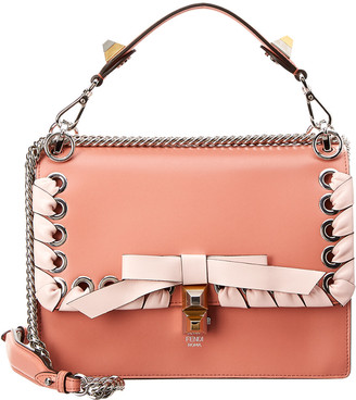 Fendi Kan I Ribbon Leather Shoulder Bag