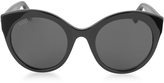 Gucci GG0028S 001 Black Acetate Cat Eye Oversized Women's Sunglasses