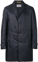 Canali lapel detail padded coat