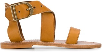 K. Jacques Low Heel Strappy Sandals
