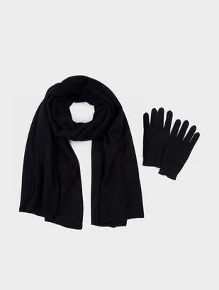 White + Warren Cashmere Travel Wrap + Gloves Bundle