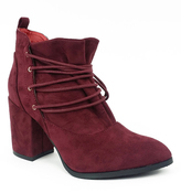 Wine Lace-Up Hope Bootie