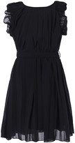 Richie House Girls' Casual Dresses Black - Black Ruffle Pleated Dress - Toddler