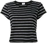 RE/DONE stripe boxy t-shirt - women - Cotton/Polyester - XS