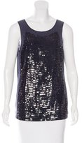 Tory Burch Sequin-Embellished Sleeveless Top