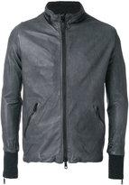 Giorgio Brato zipped biker jacket - men - Silk/Leather/Polyester/Spandex/Elastane - 46
