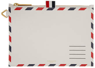 Thom Browne White Large Airmail Coin Purse