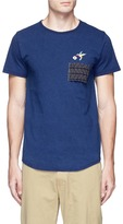 FDMTL Pen slot patch hummingbird embroidered T-shirt