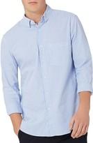 Topman Men's Classic Fit Stripe Oxford Shirt