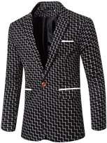 Partiss Men's Fashion Wedding Blazer Coat Long Sleeve Classic Jacket