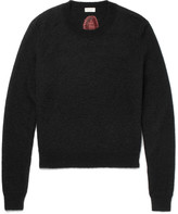 Saint Laurent - Intarsia Mohair-blend Sweater