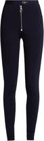 Versace Zigzag-stitched jersey leggings