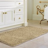 "Norcho Soft Cushion Water Absorbment Non Slip Antibacterial Rubber Luxury Bath Mat Rug 31""x19"" Khaki"