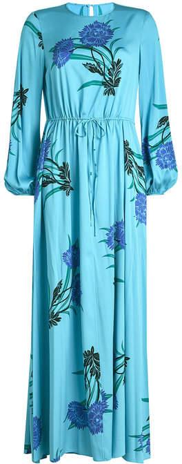 Diane von Furstenberg Floor Length Printed Silk Dress